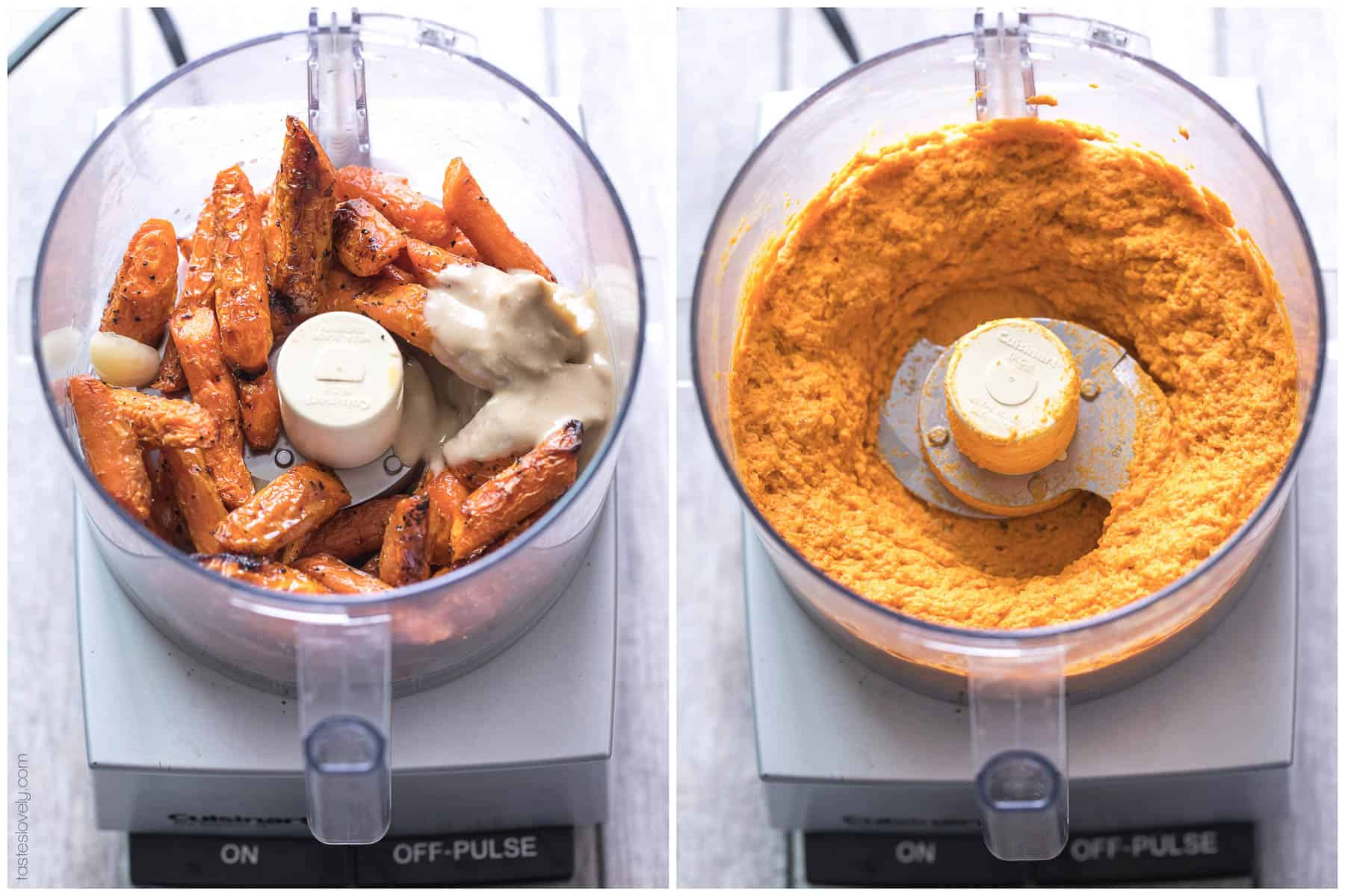 Paleo & Whole30 Roasted Carrot Dip - a delicious and healthy appetizer everyone loves! Gluten free, grain free, dairy free, sugar free, low carb, vegan, clean eating.