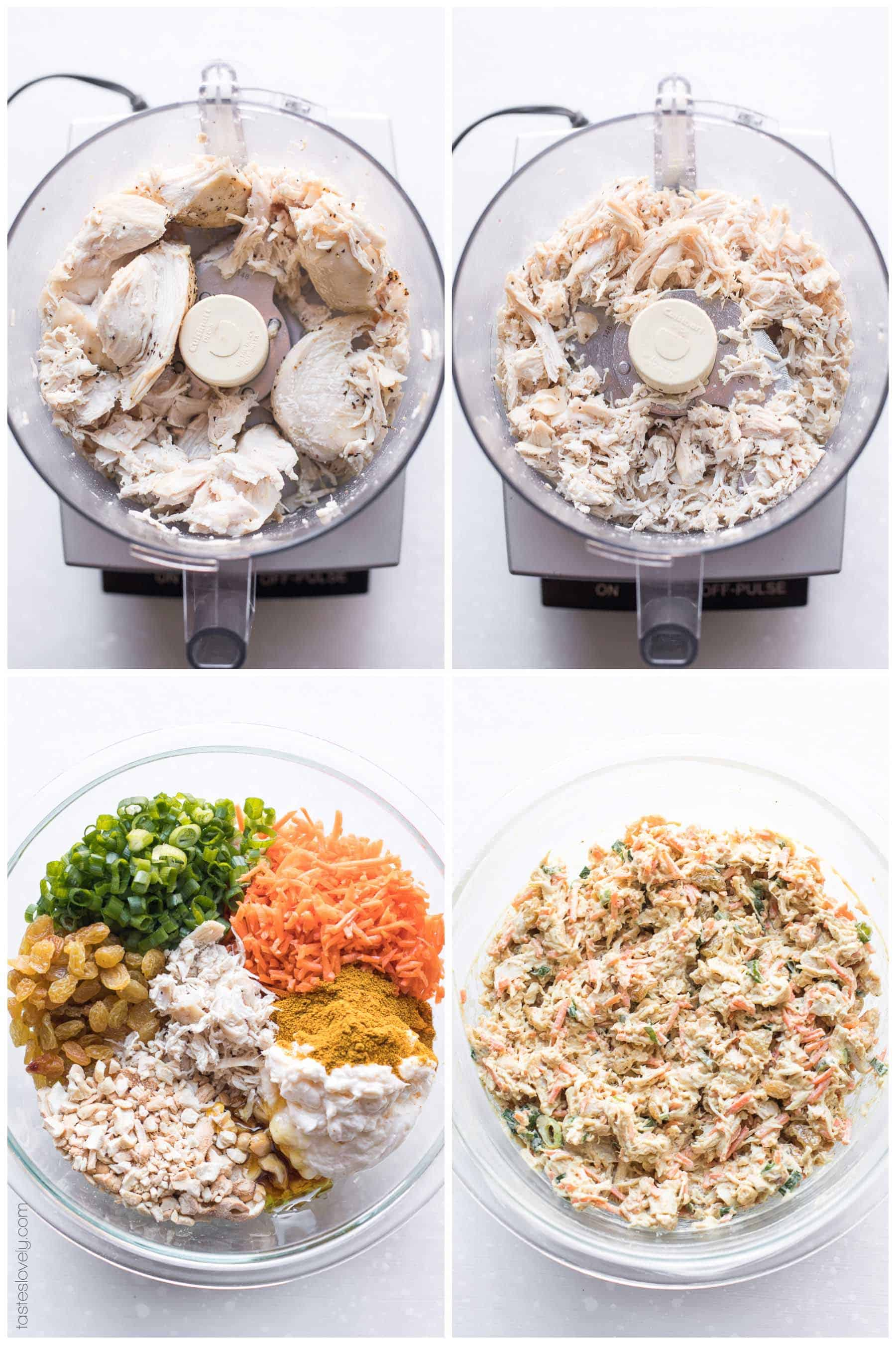 Curried Chicken Salad with Cashews (Paleo, Whole30, Gluten Free, Dairy Free, Refined Sugar Free)