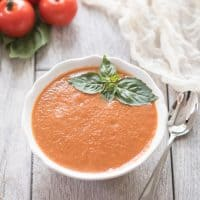 Paleo & Whole30 Tomato Basil Soup