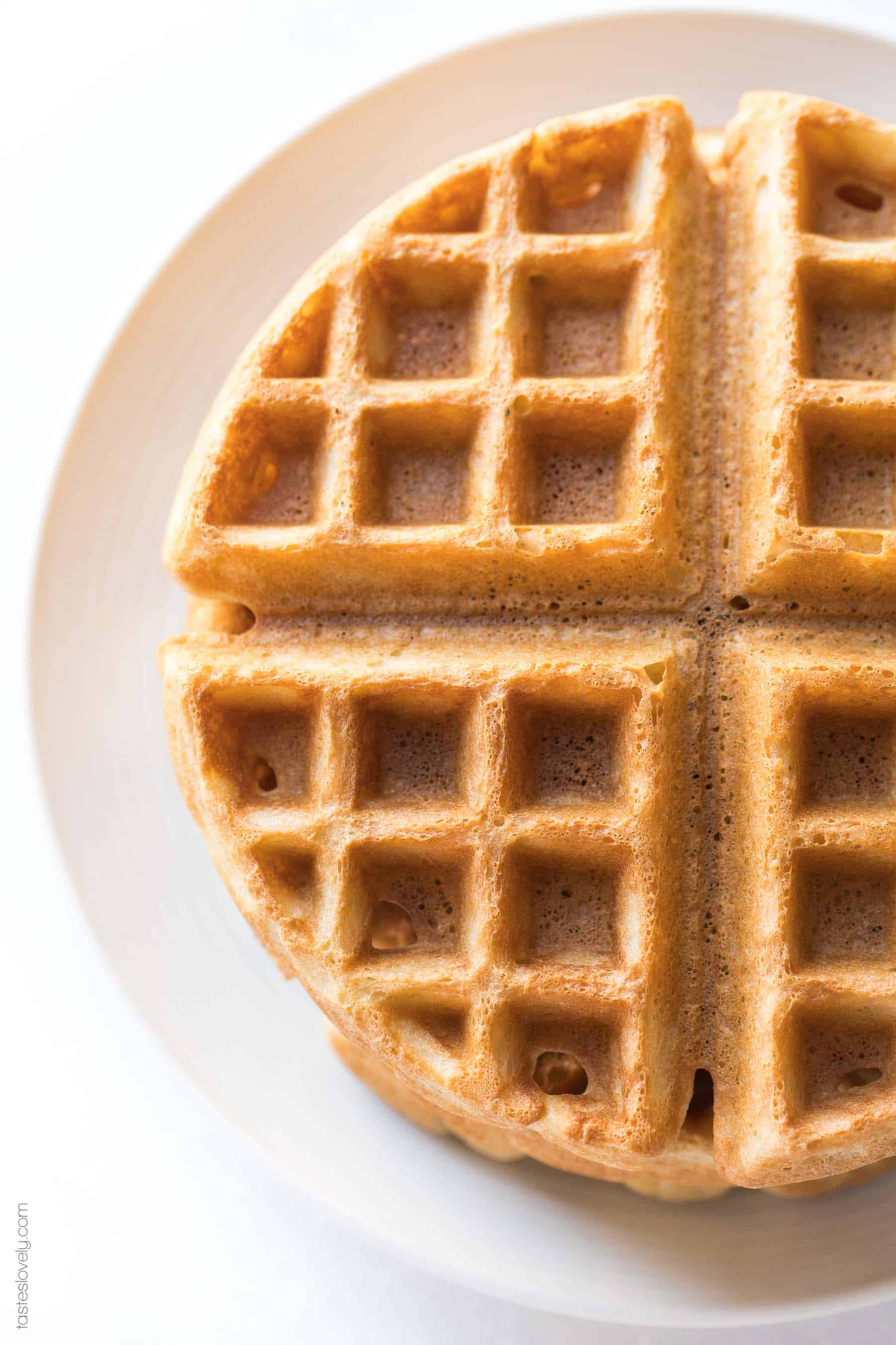 Crispy Paleo Waffles - the most delicious and crispy waffle recipe ever! You'd never guess these were paleo, gluten free, dairy free and refined sugar free!