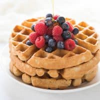 Crispy Paleo Waffles (Gluten Free, Dairy Free)