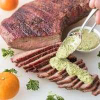 Paleo + Whole30 Tri Tip with Orange Parsley Sauce