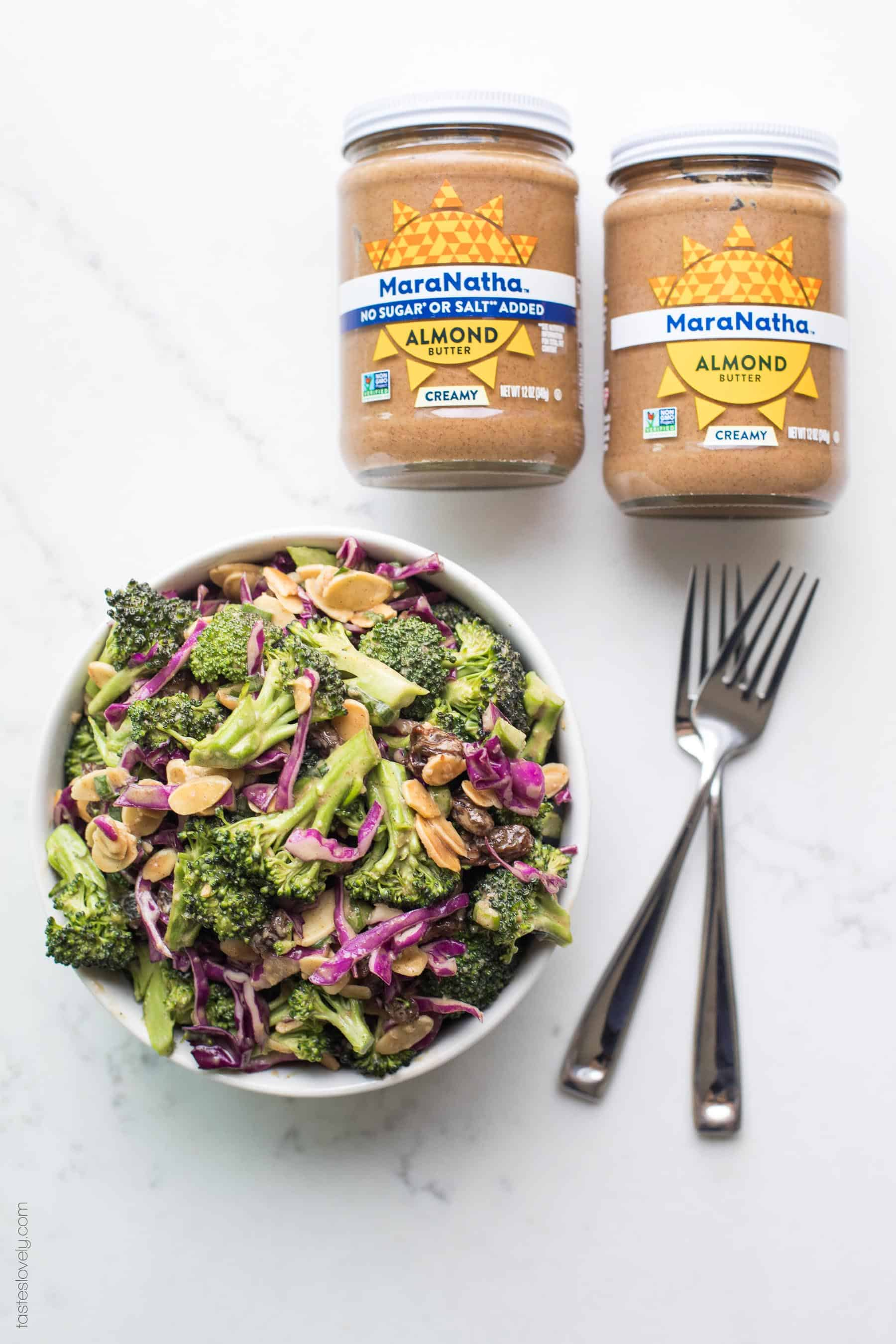 Paleo + Whole30 Broccoli Salad with Orange Almond Dressing #paleo #whole30 #glutenfree #grainfree #dairyfree #sugarfree #keto #cleaneating #realfood