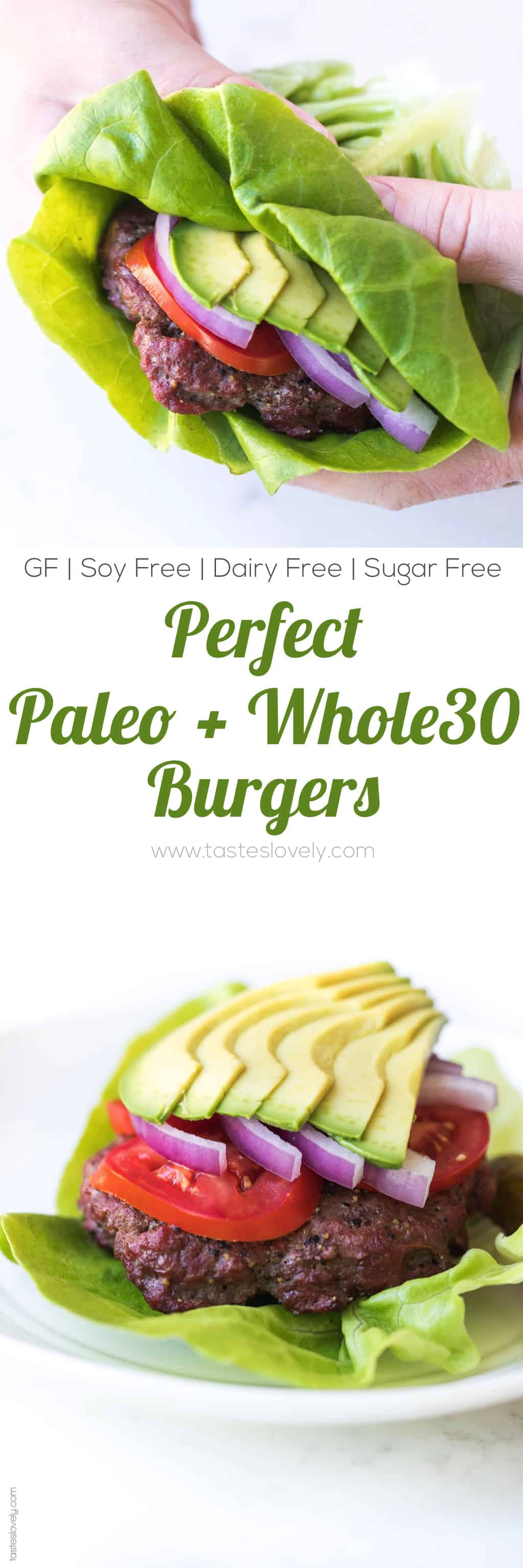 Perfect Paleo + Whole30 Burger Recipe with a Homemade Worcestershire Sauce - the secret to the most flavorful and juicy paleo + whole30 hamburgers! #paleo #whole30 #glutenfree #grainfree #dairyfree #soyfree #sugarfree #lowcarb #keto #realfood #cleaneating
