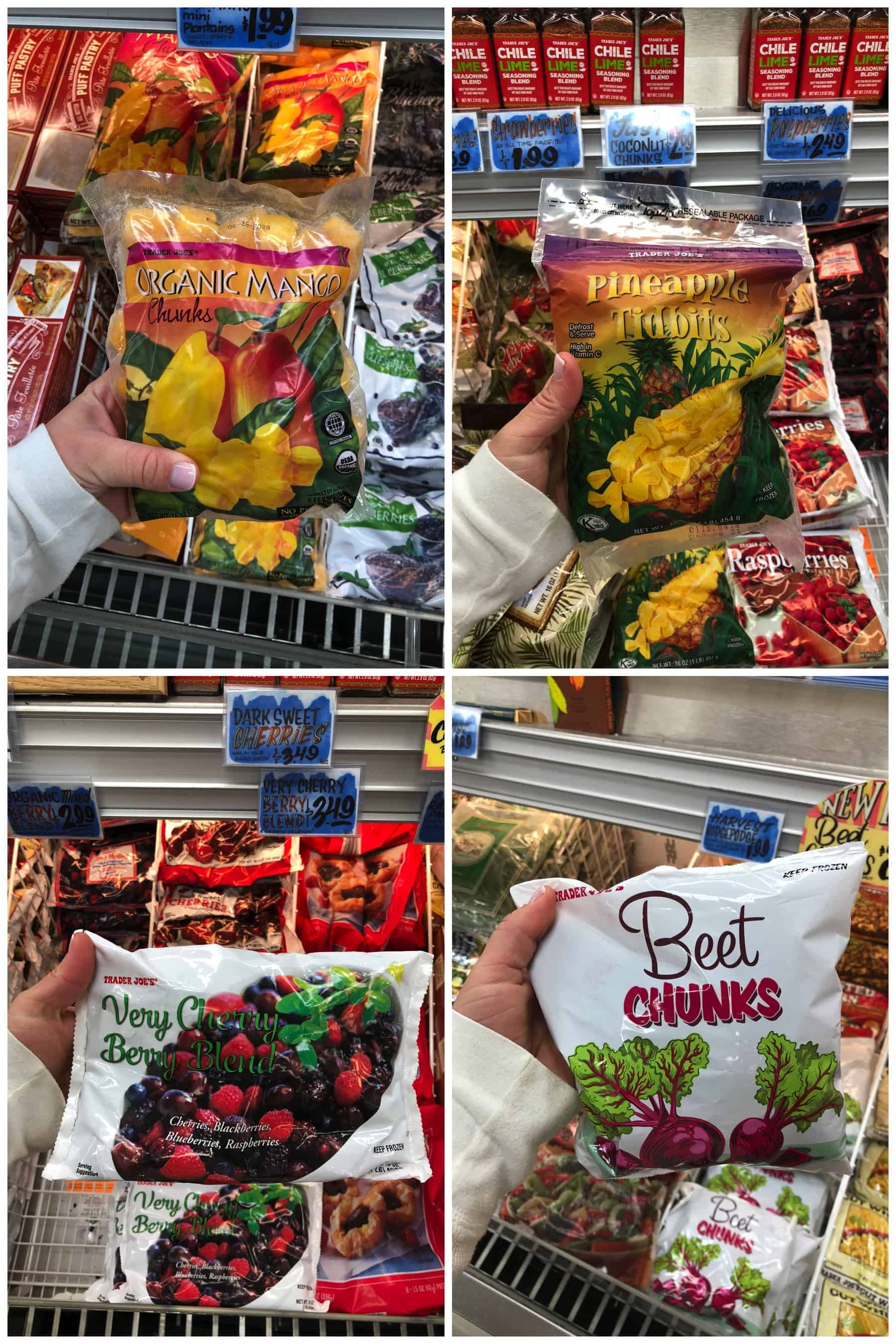 Trader Joe's Frozen fruit + vegetables
