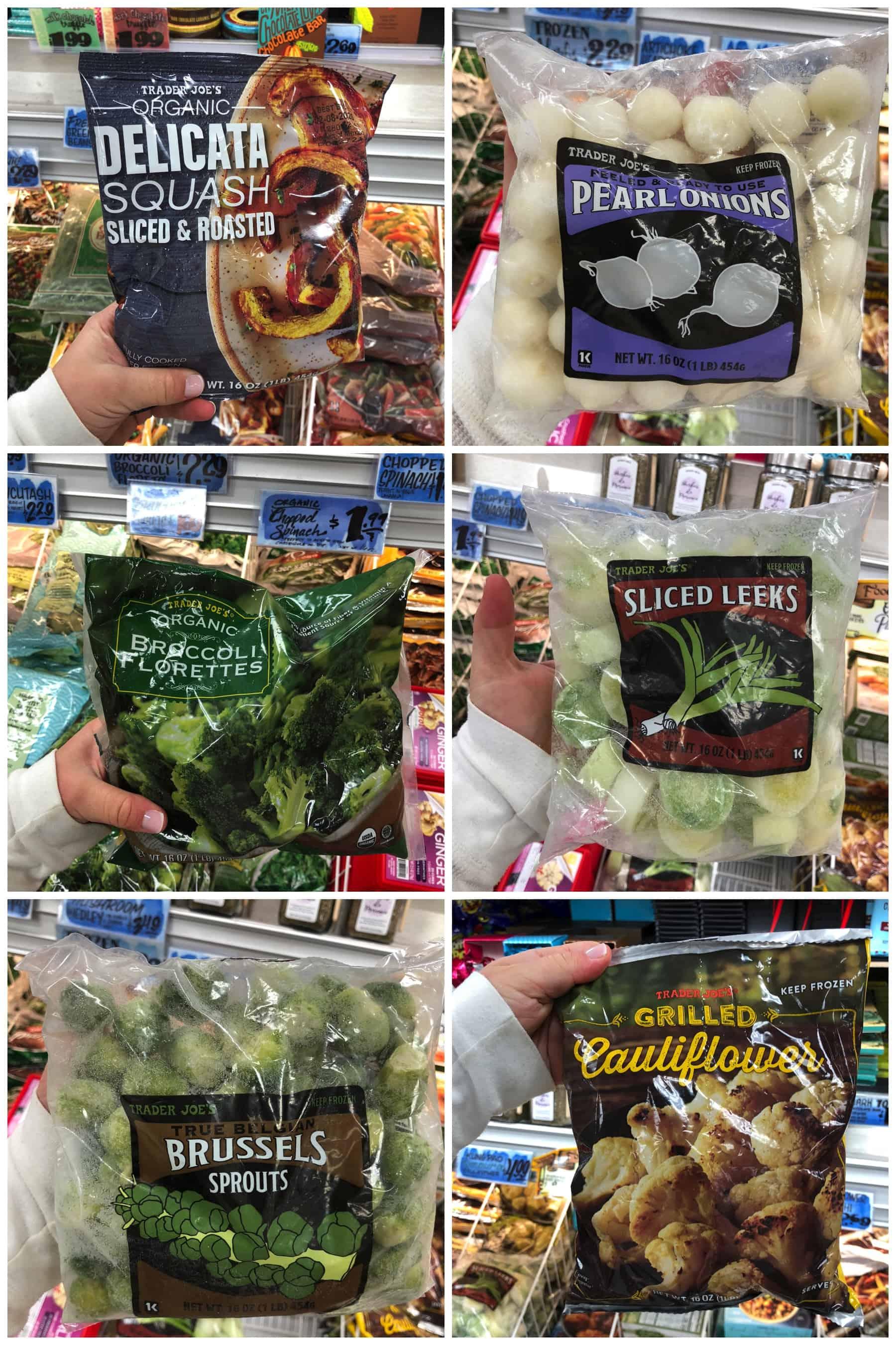 Trader Joe's Frozen fruit + vegetables