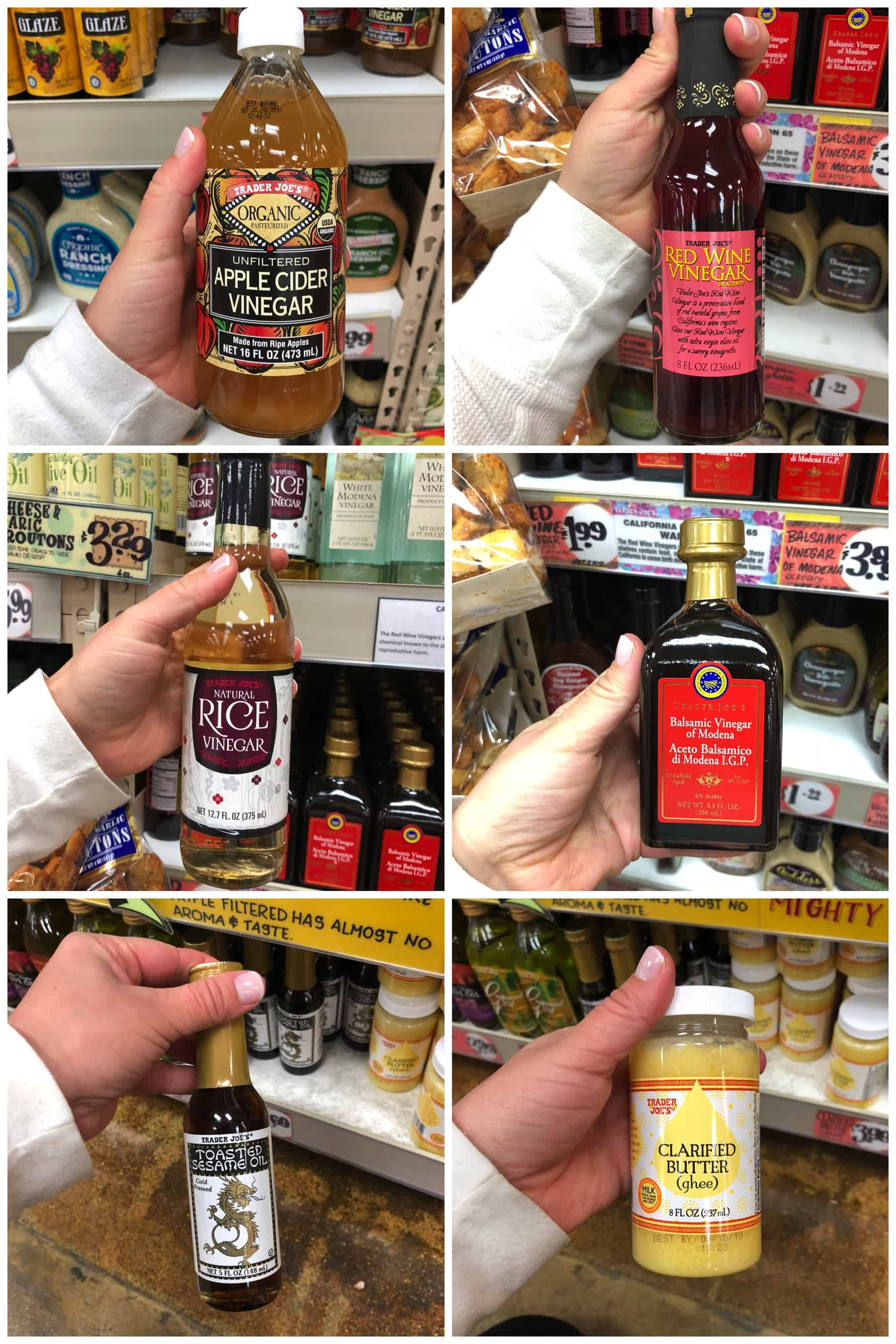 Whole30 Trader Joes Oils + Vinegars