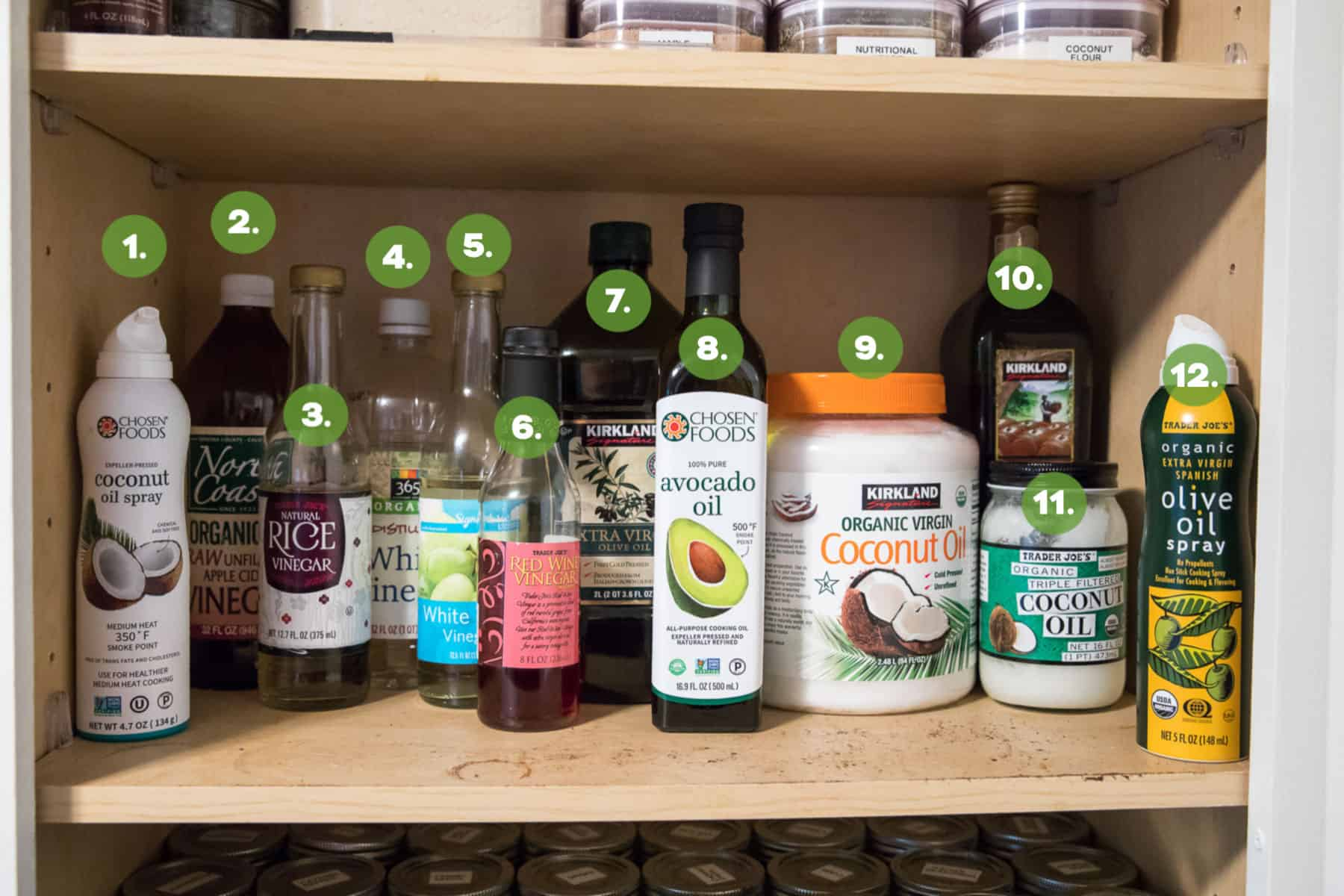 Whole30 Stocked Oils and Vinegars