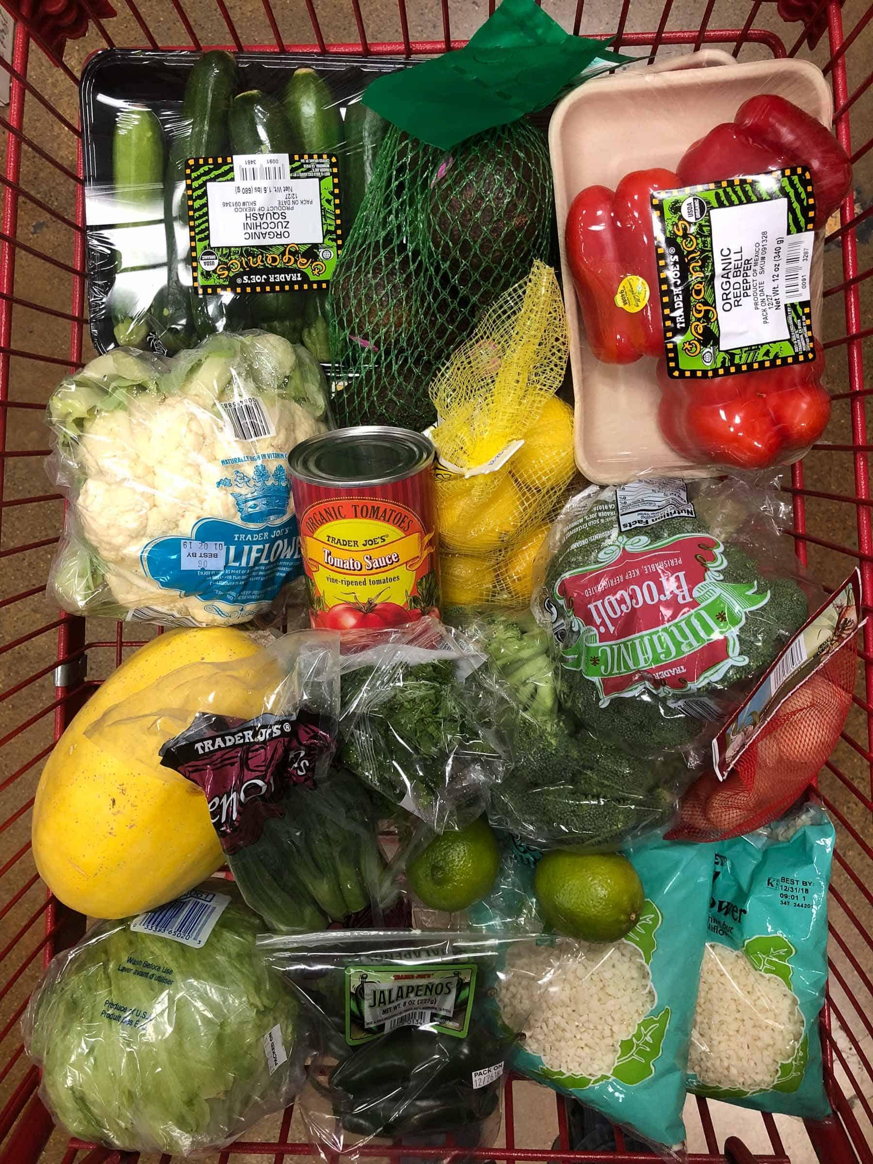 Trader Joe's Whole30 Grocery Cart Haul