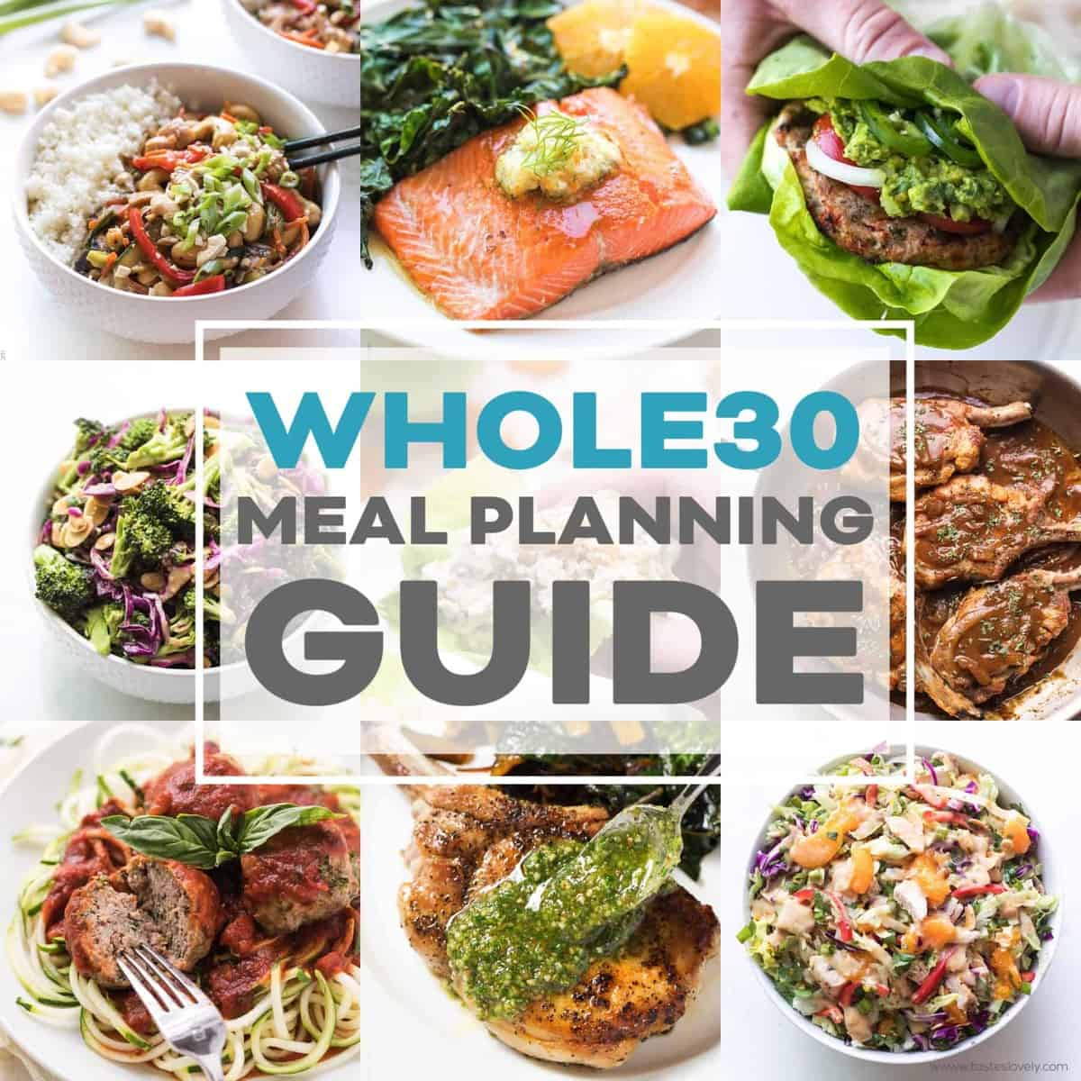 0b9bd55e79e66 Whole30 Meal Planning Template Guide - Tastes Lovely