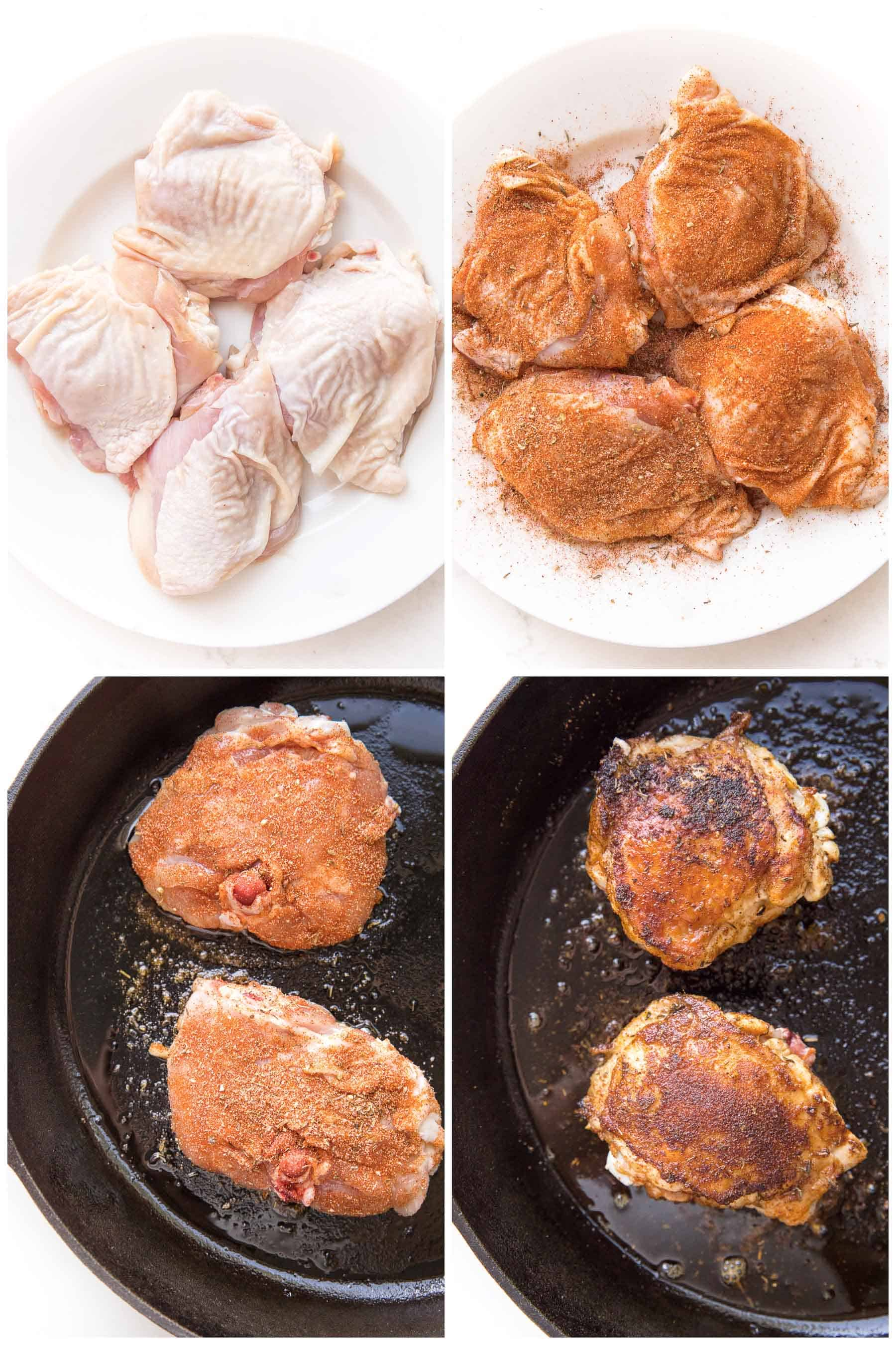 steps to making cajun chicken thighs