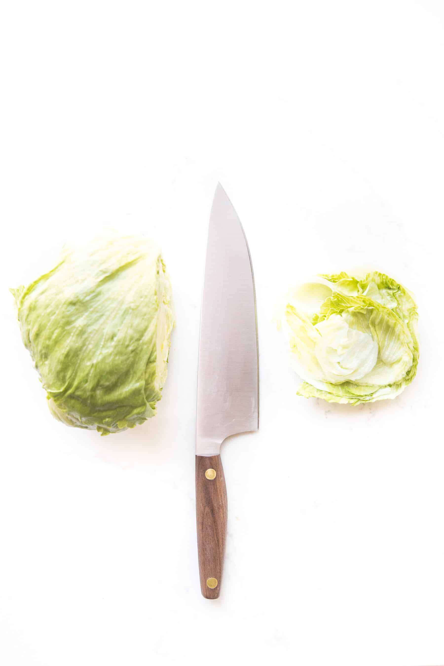 how to cut iceberg lettuce for burgers and sandwich buns