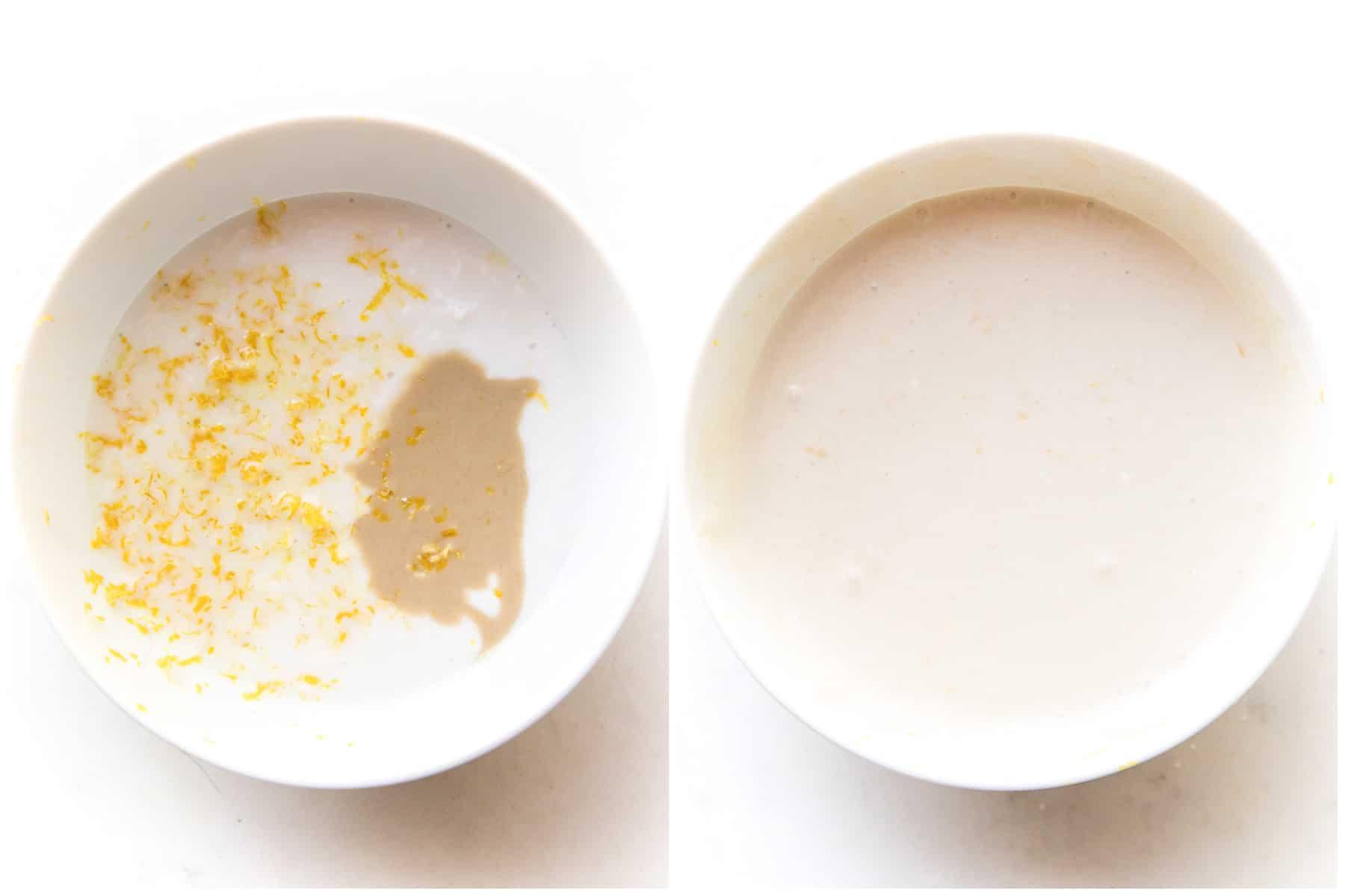 steps to making coconut tahini sauce