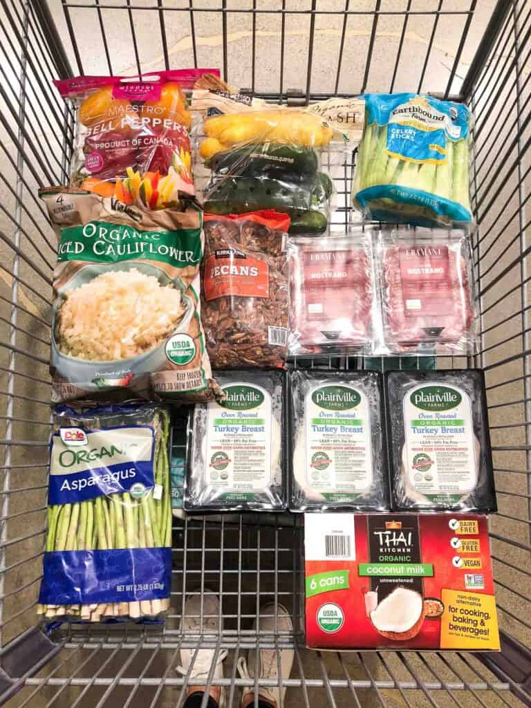 clean eating whole30 + keto groceries at costco