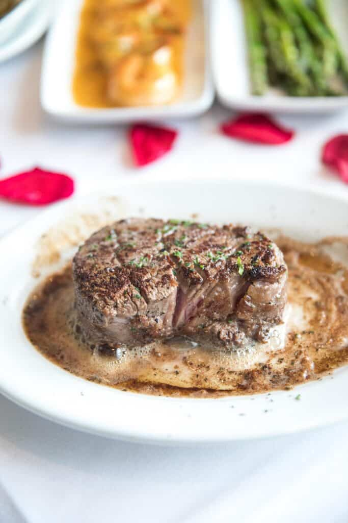 11 oz filet mignon at ruth's chris steakhouse keto friendly menu