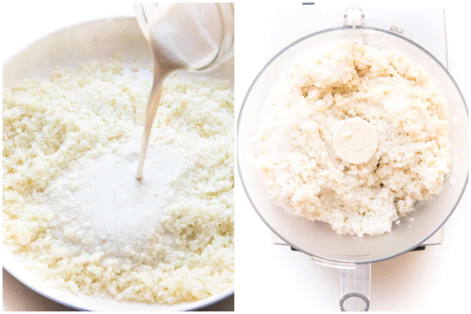 steps to making creamy cauliflower mash