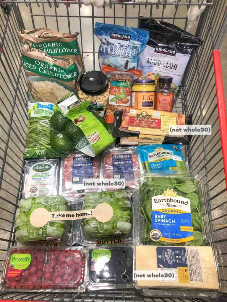 whole30 + keto clean eating grocery haul at costco