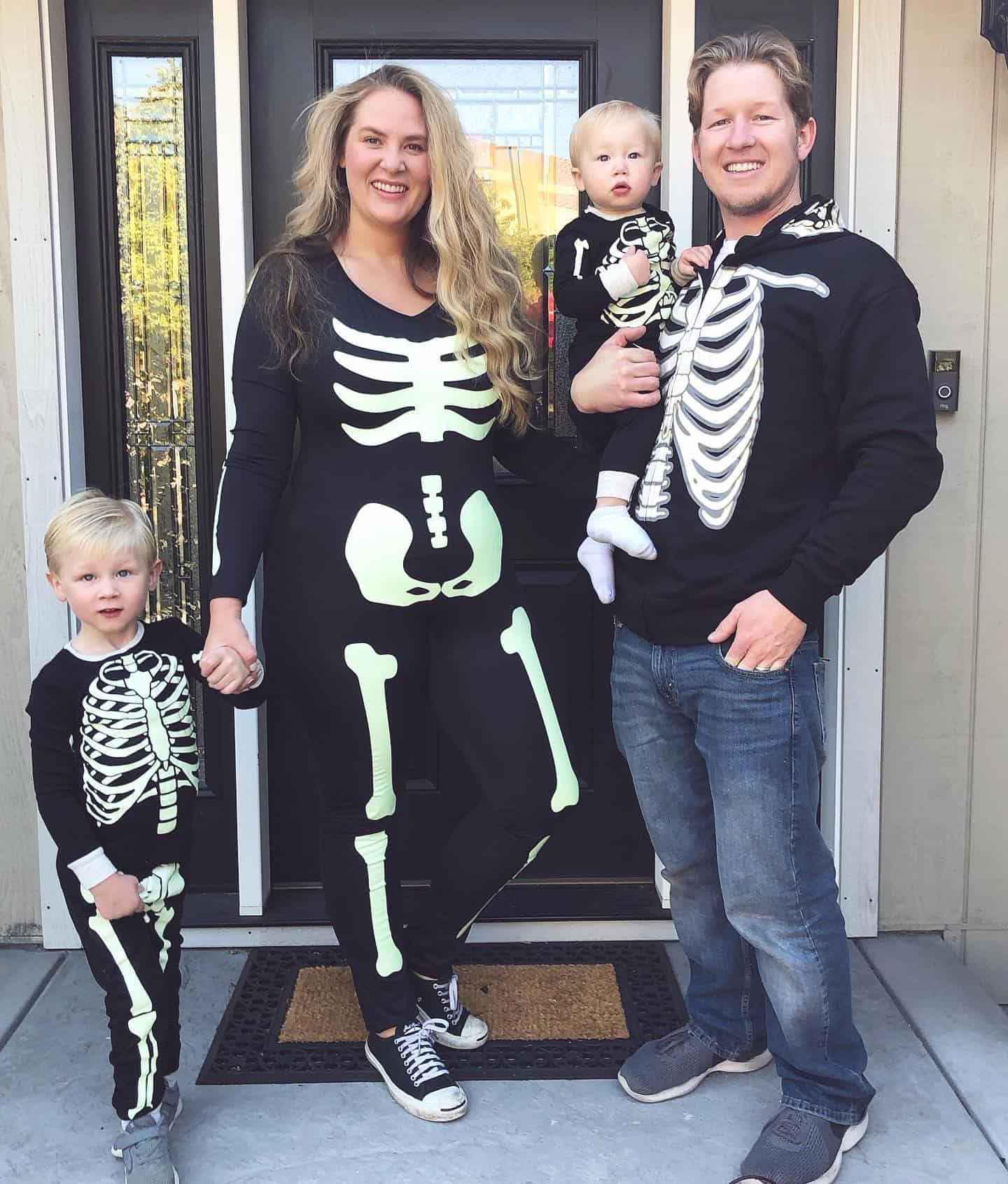 Skeleton family halloween costume