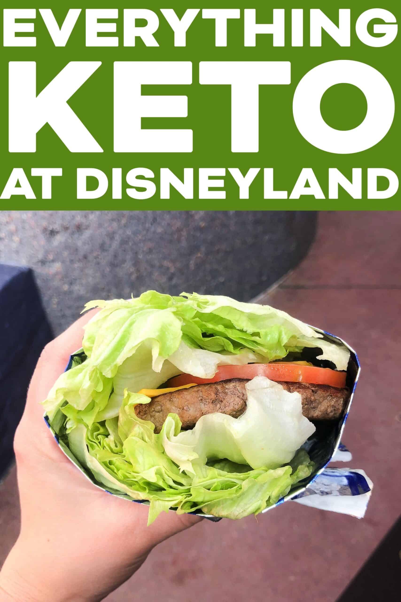 lettuce wrapped burger at Disneyland