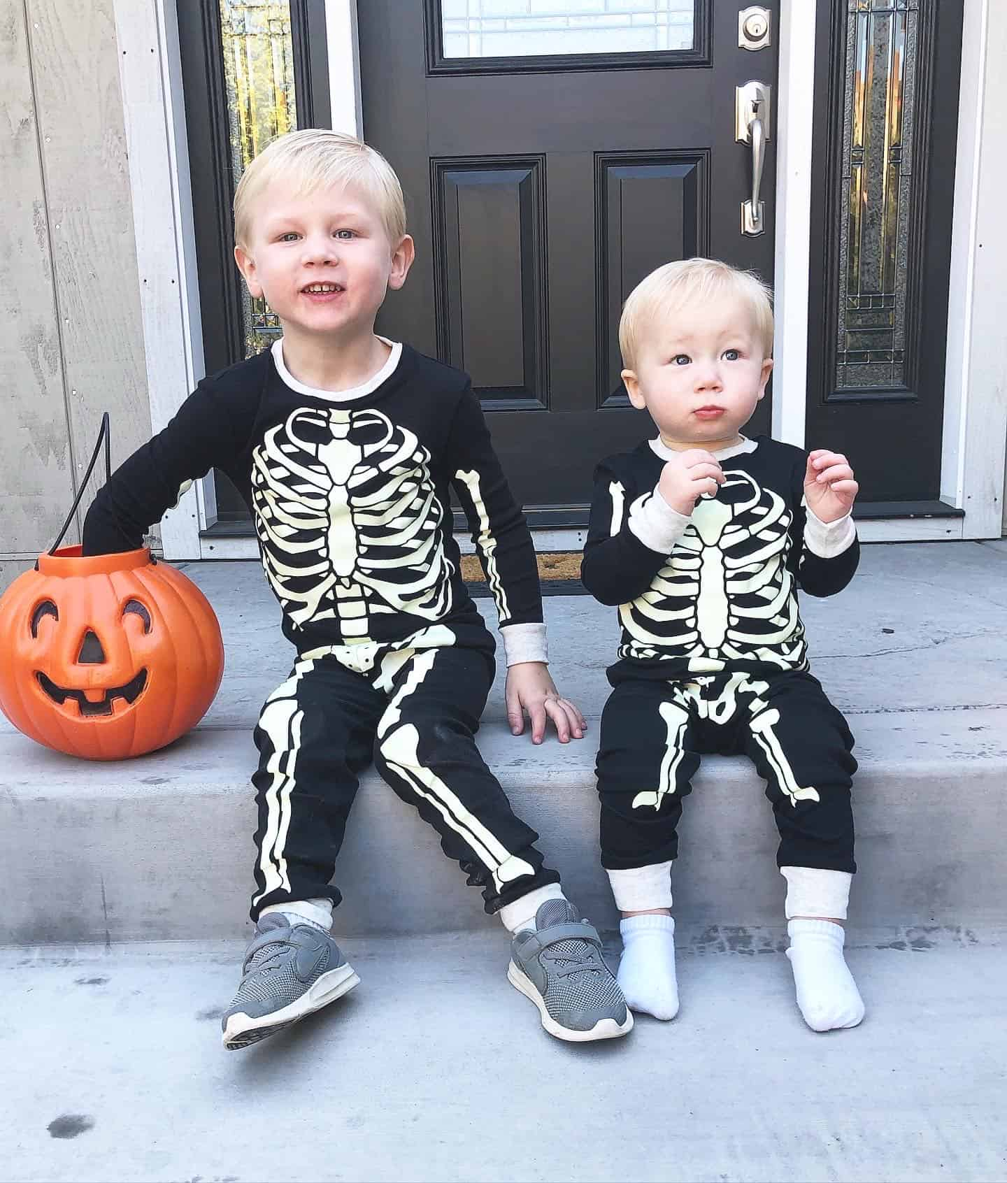 skeleton halloween costume toddler and baby