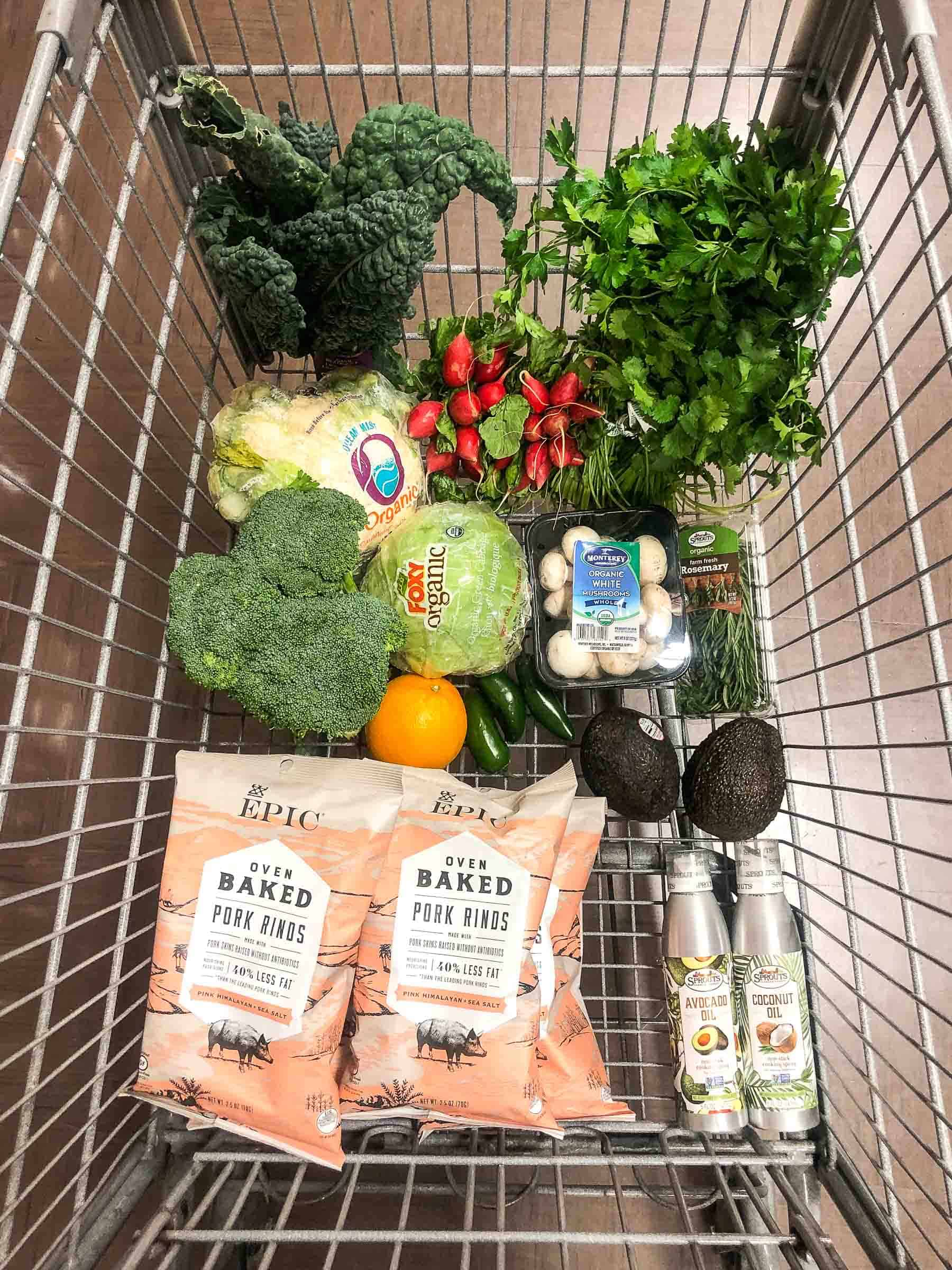 whole30 keto grocery haul groceries sprouts