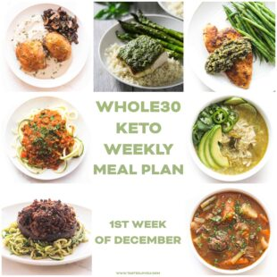 whole30 + keto weekly meal plan menu