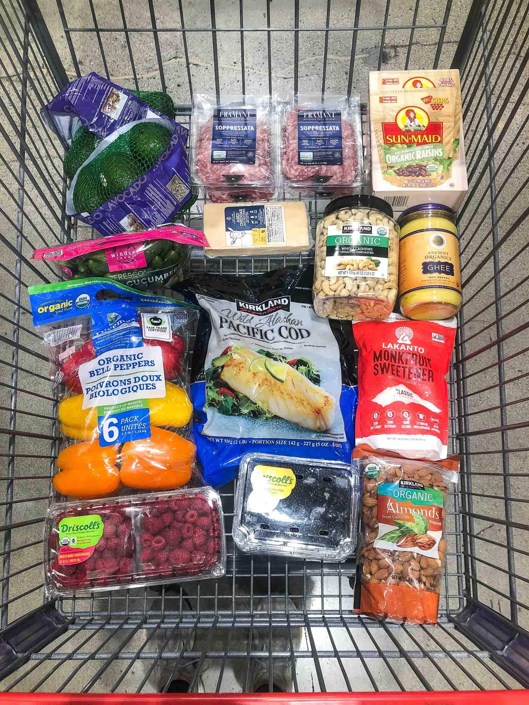 Whole30 + keto grocery haul costco