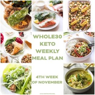 WHOLE30 + KETO WEEKLY MEAL PLAN MENU