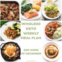 WHOLE30 KETO WEEKLY MEAL PLAN