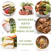 whole30 + keto weekly meal plan menu recipe roundup
