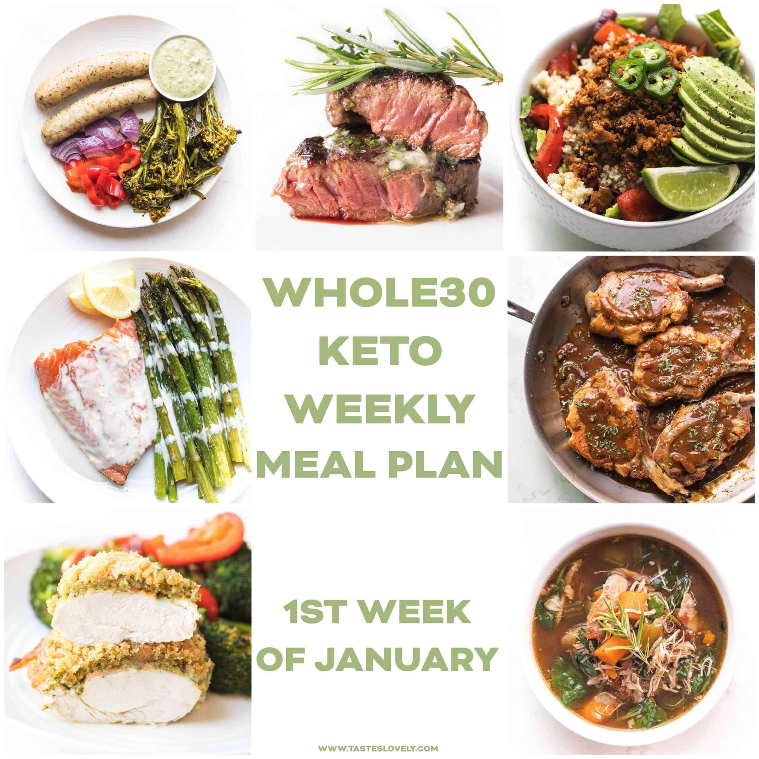Whole30 Keto Weekly Meal Plan (January Week 1)