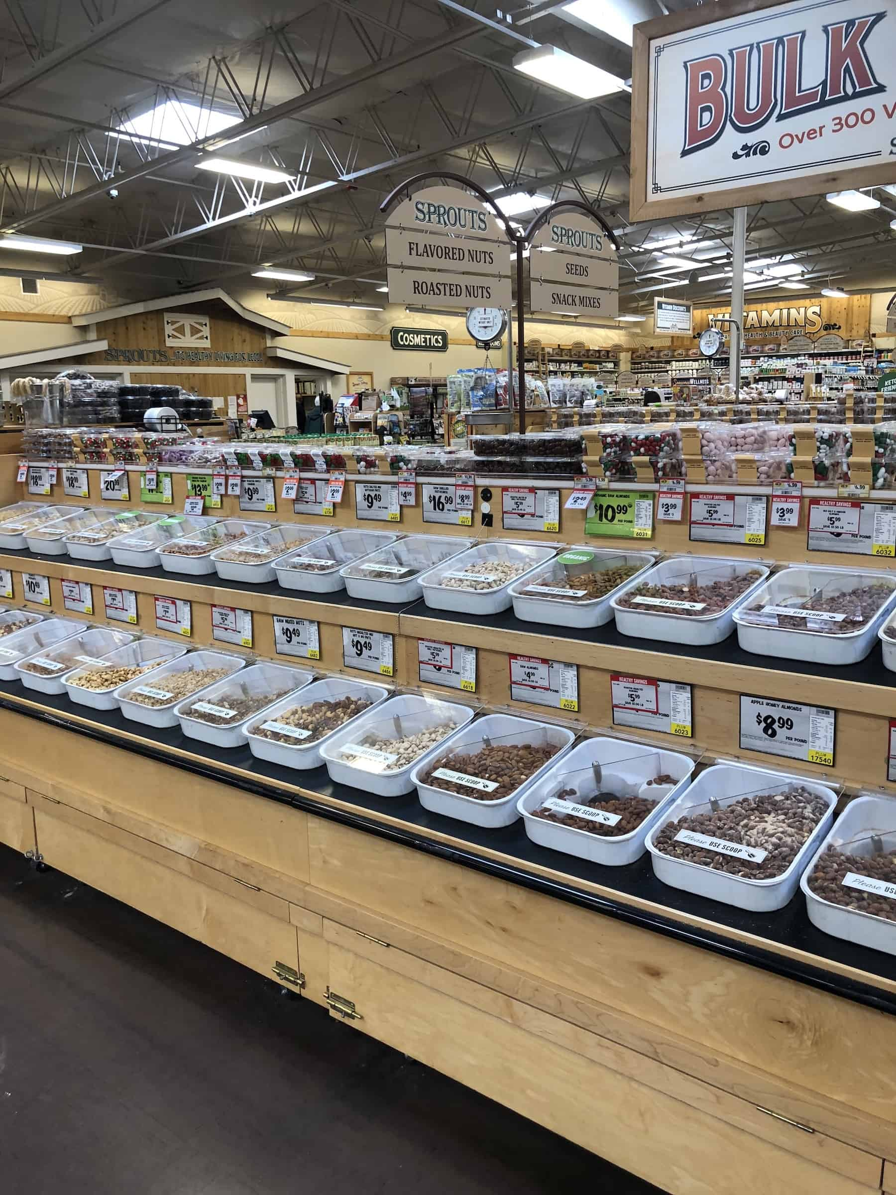 bulk department at sprouts