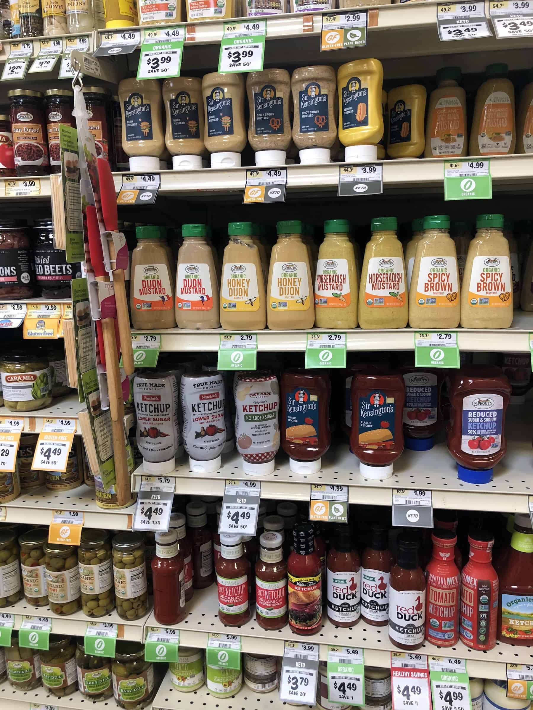 condiments at sprouts