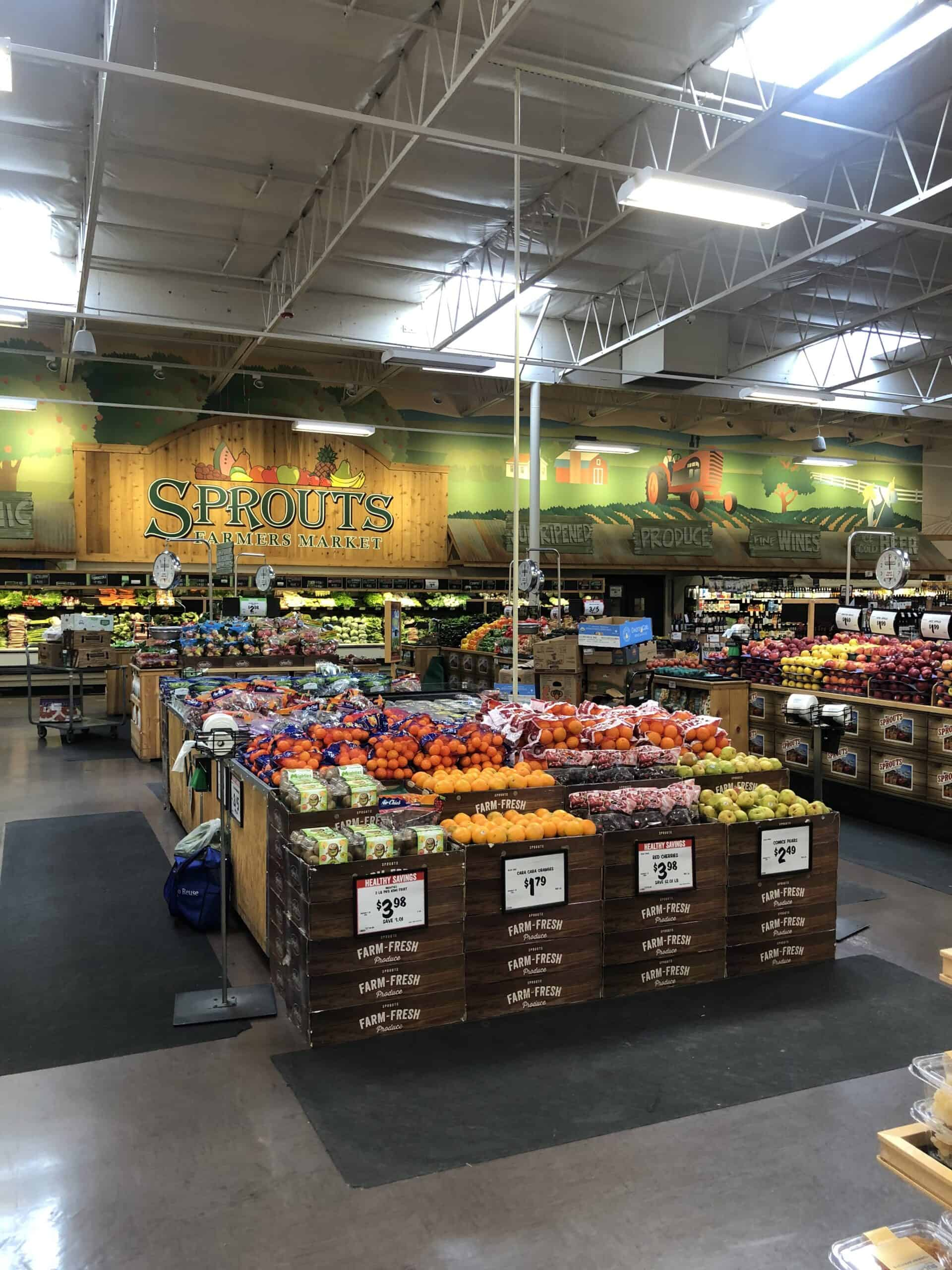 sprouts grocery store produce department