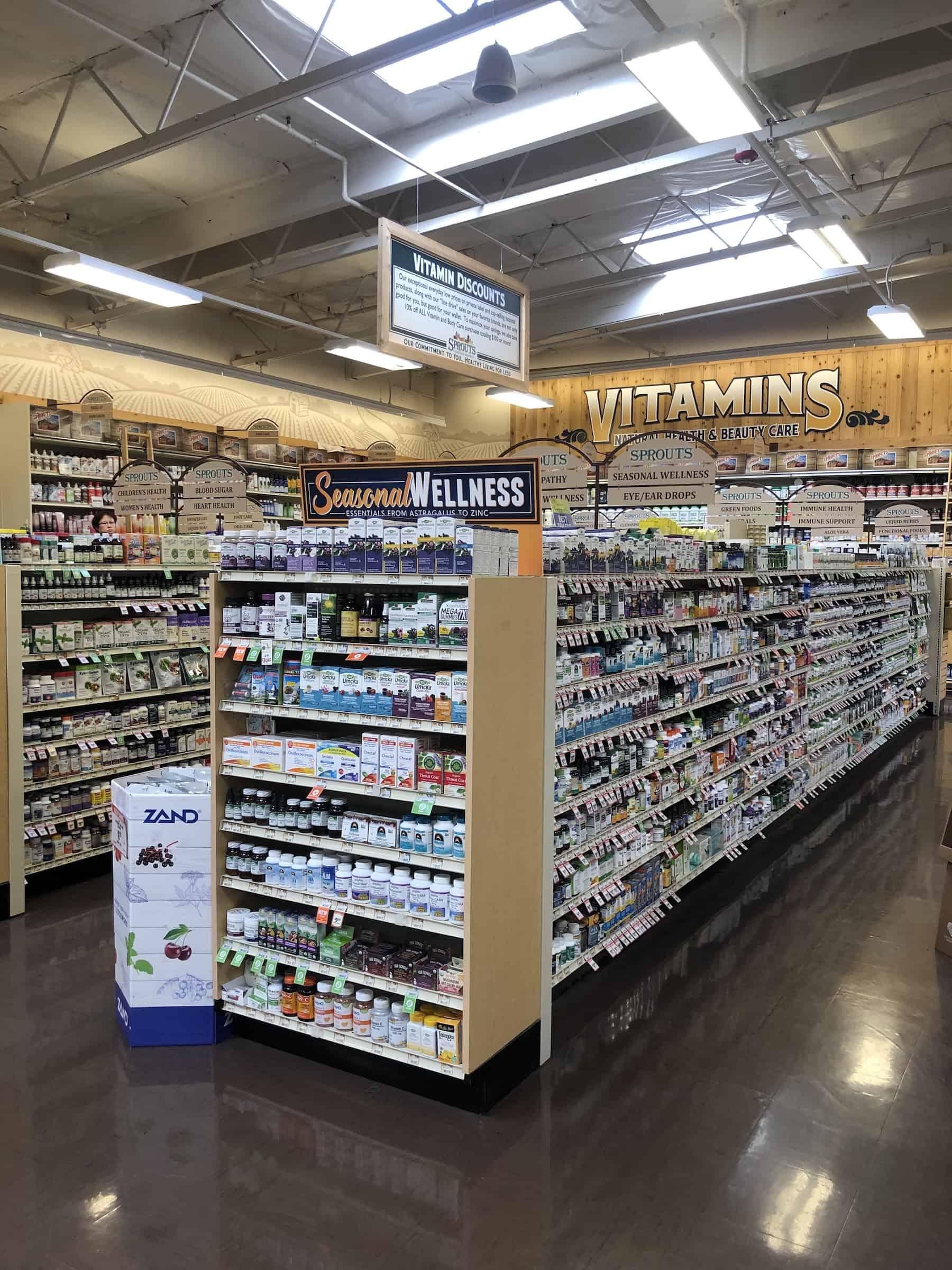 vitamins at sprouts