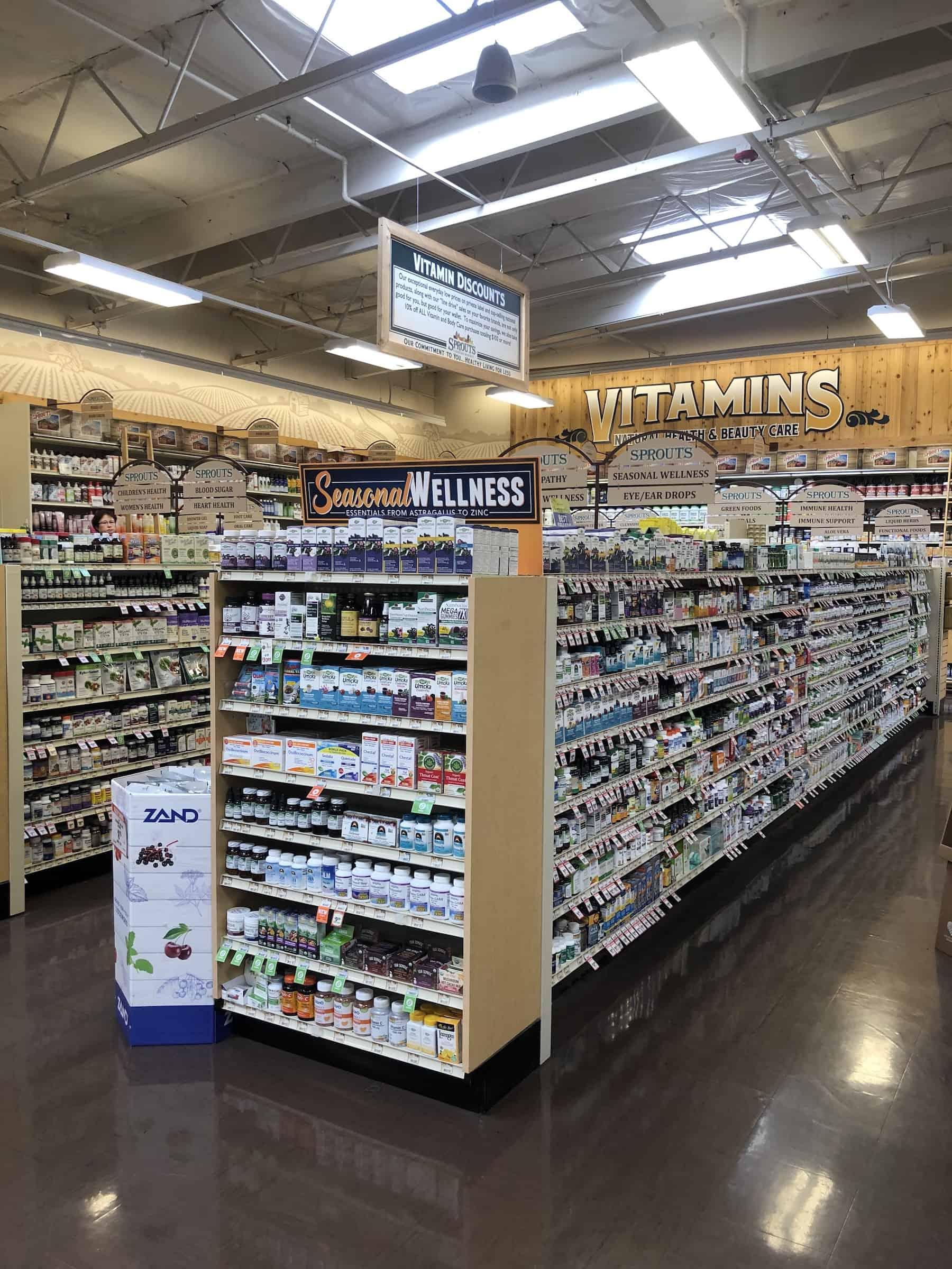 vitamins at sprouts