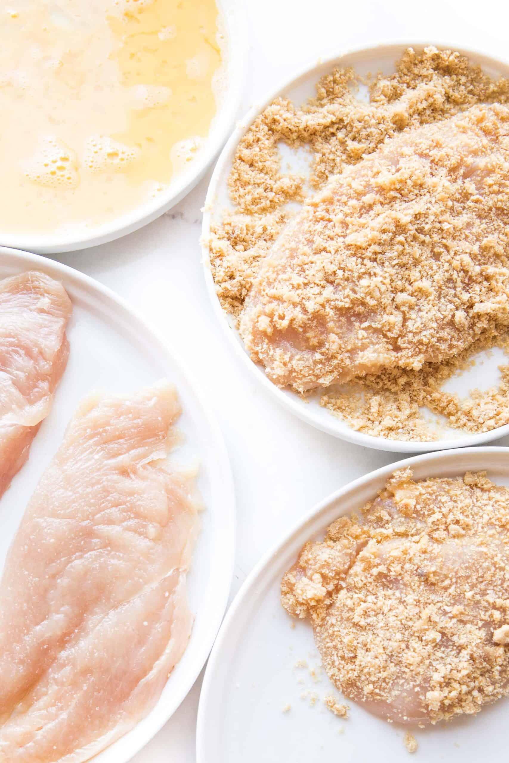 steps to dredging chicken parmesan