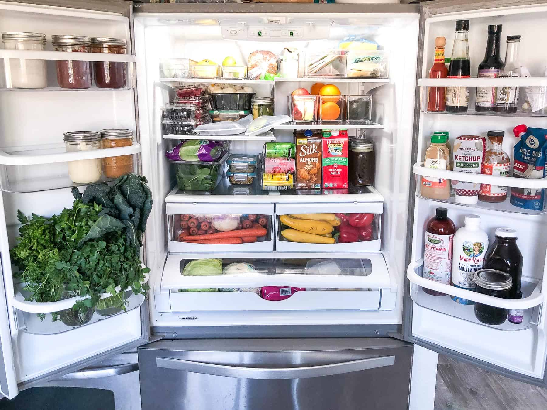 whole30 keto stocked refrigerator