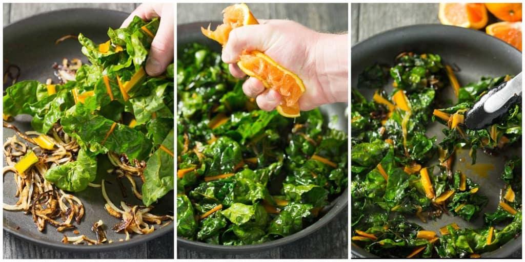 Orange Braised Rainbow Chard (paleo, vegan, gluten free, whole 30)