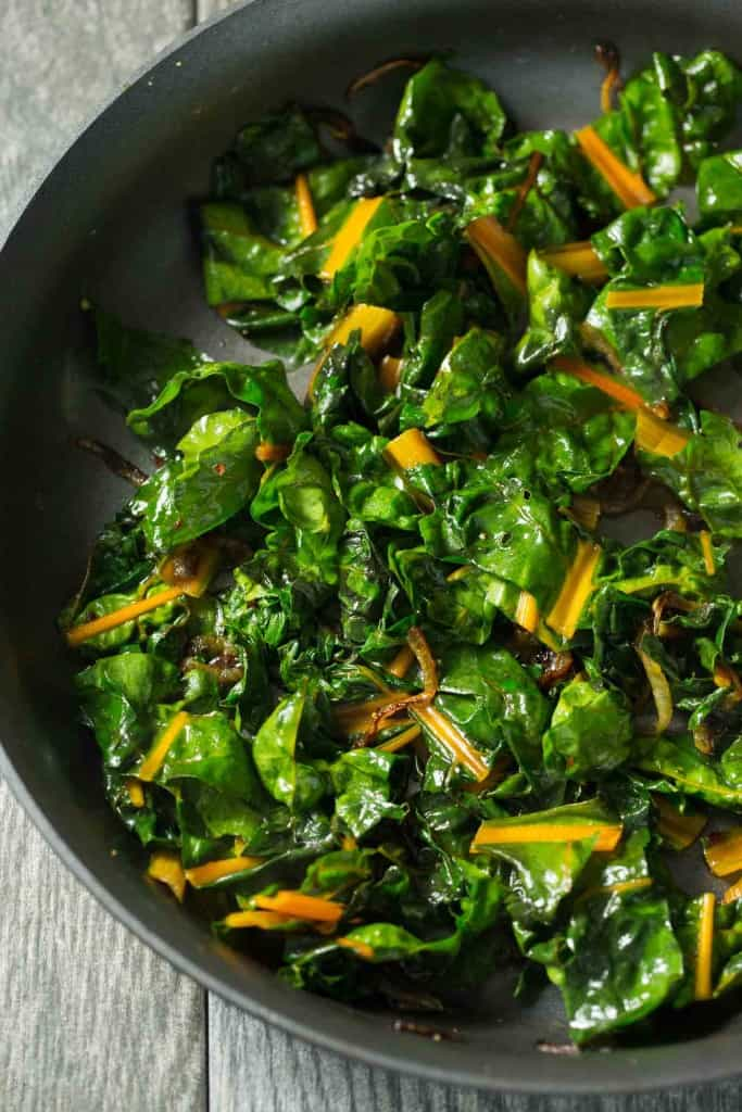 Orange Braised Rainbow Chard (paleo, vegan, gluten free, whole 30)