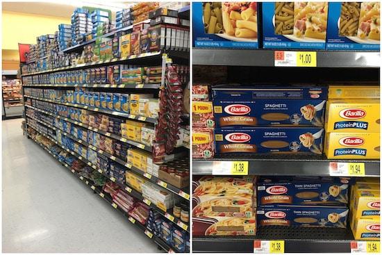 Where to find Barilla Whole Grain Spaghetti in Walmart