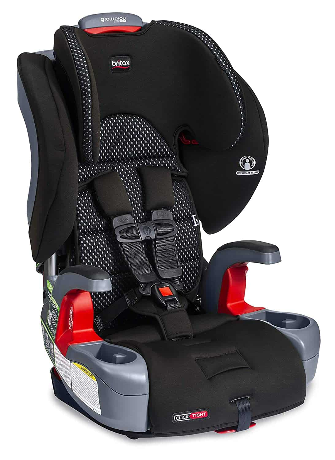 britax grow with you car seat 3 across in a toyota 4runner