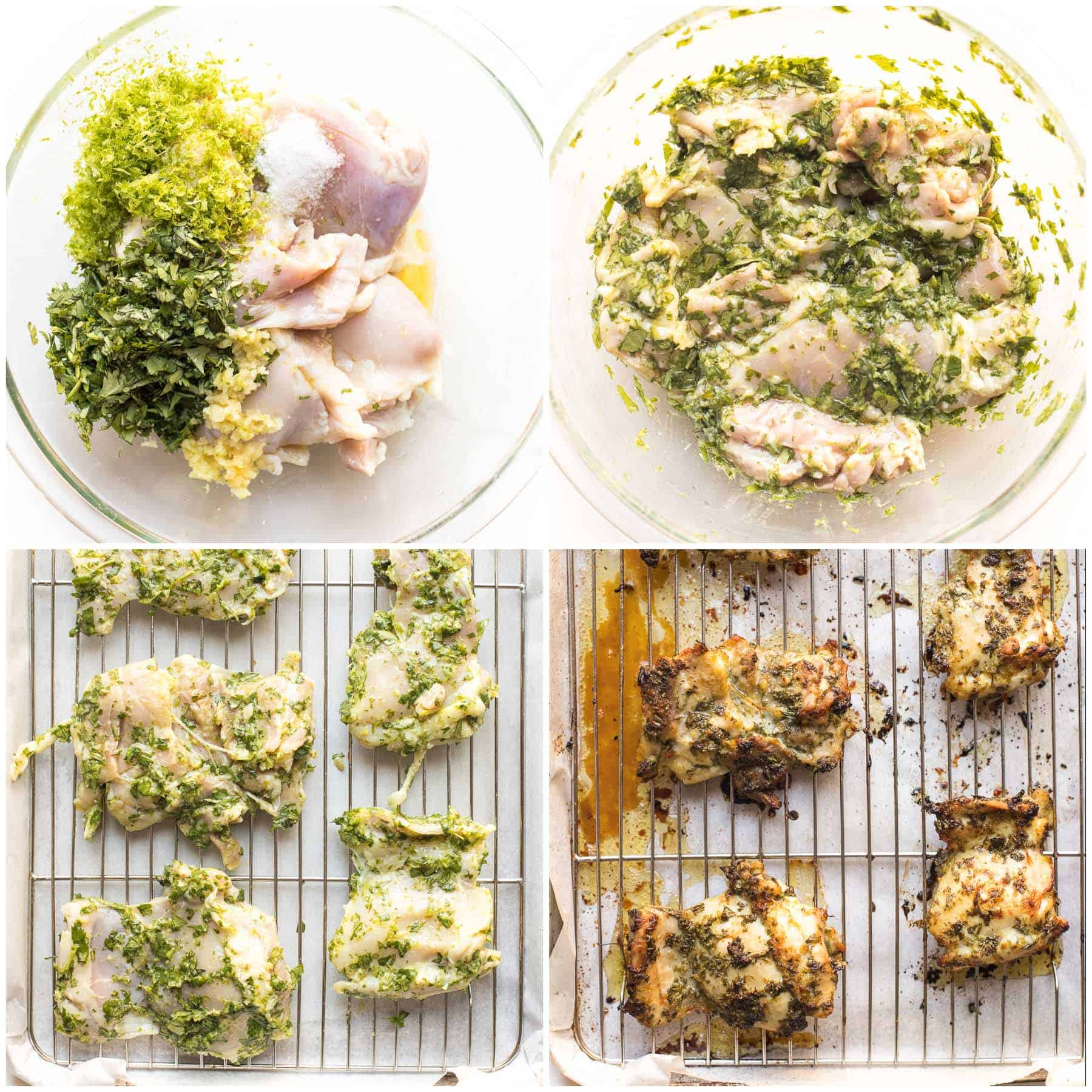 steps to making cilantro lime chicken thighs