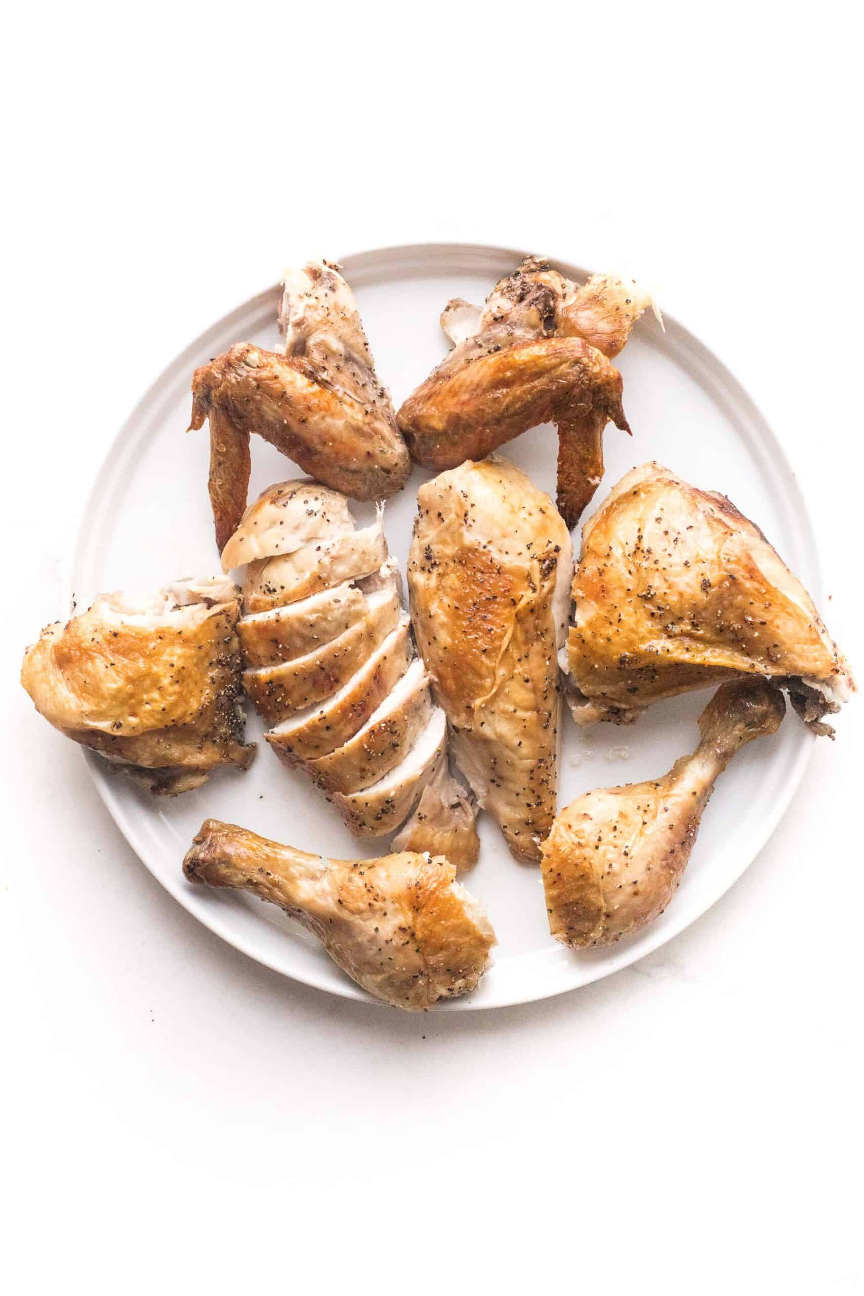 carved chicken in 8 pieces
