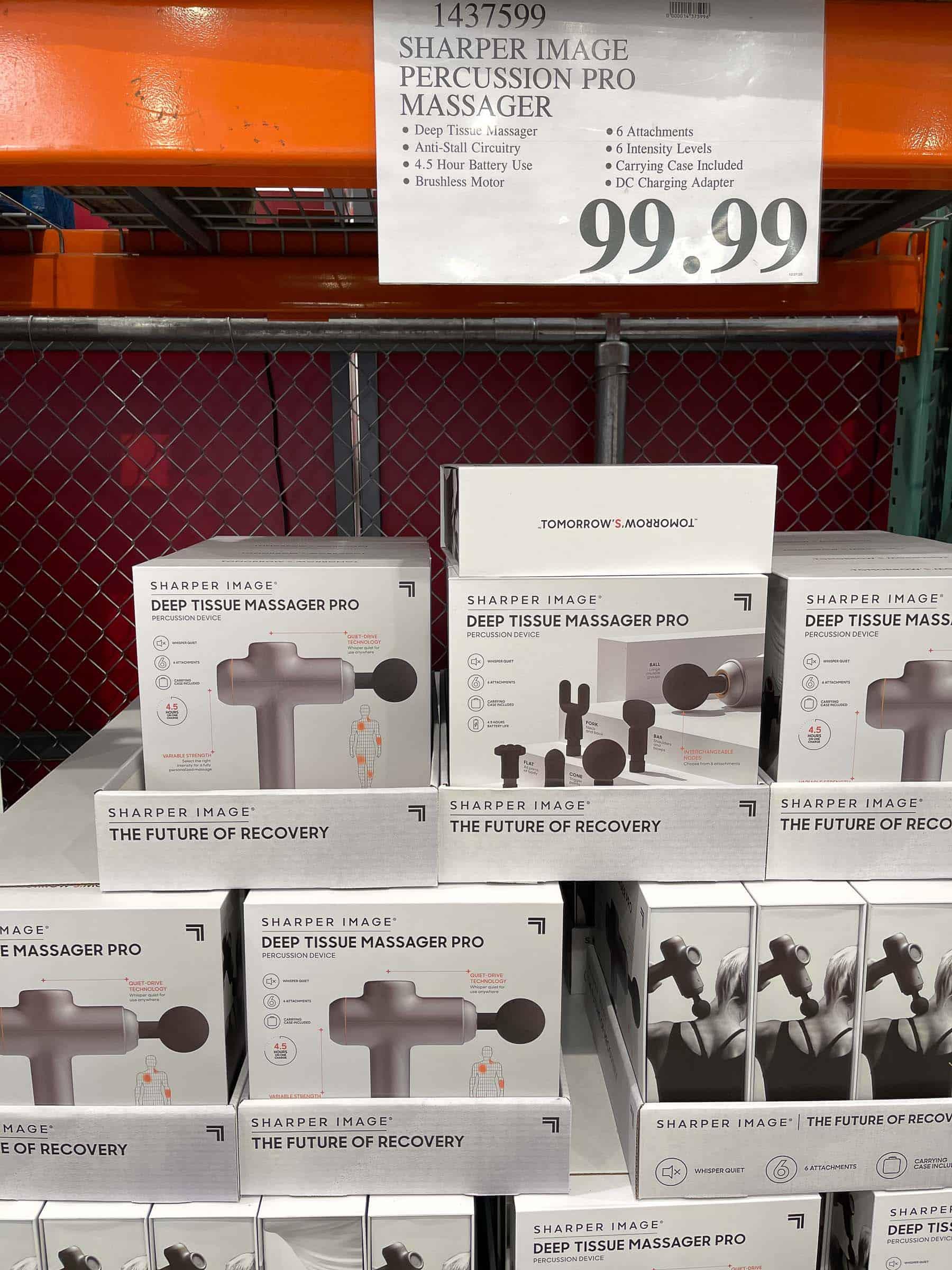 sharper image precision massage gun at costco