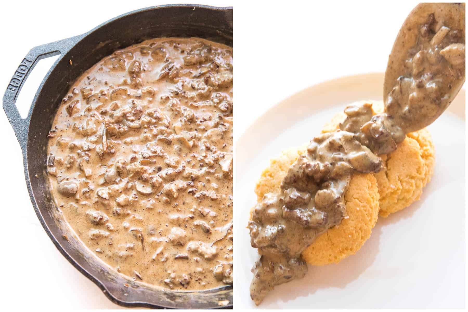 STEPS TO MAKE BISCUITS AND GRAVY