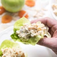 Paleo + Whole30 Apricot and Almond Chicken Salad