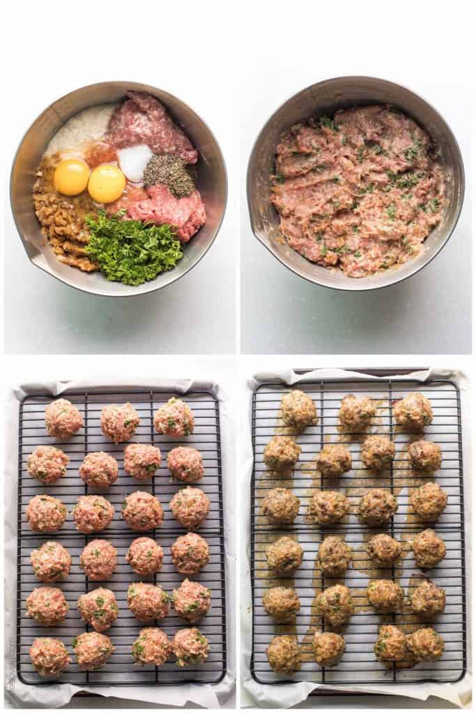 steps in making meatballs