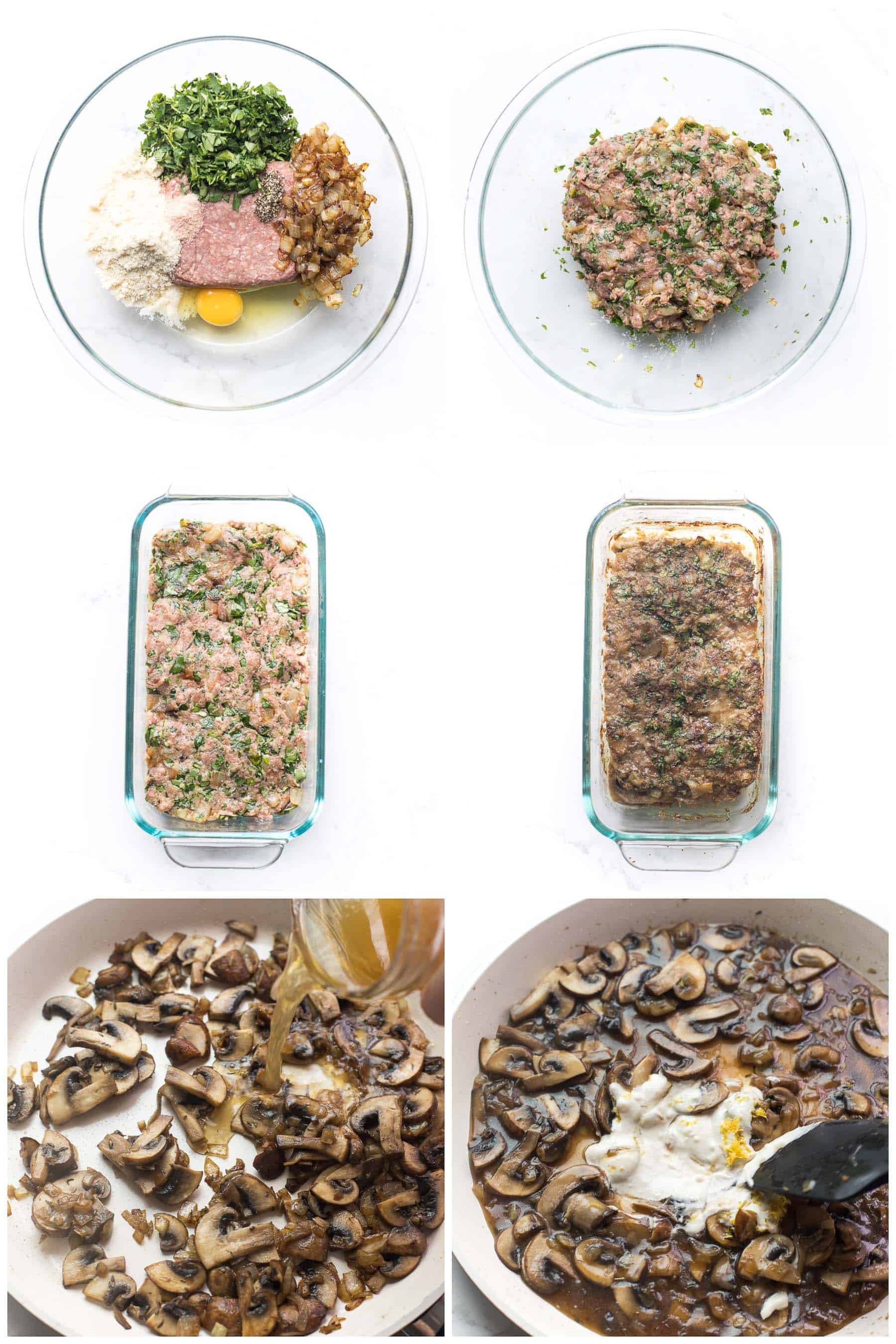 steps to making meatloaf with mushroom gravy