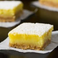 Coconut Oil Meyer Lemon Bars